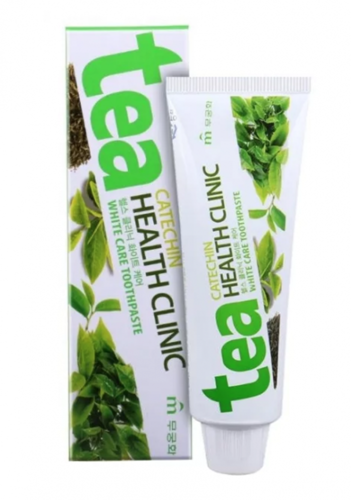 Зубная паста «Mukunghwa» Зубная паста «Tea Catechin Health Clinic» отбеливающая с экстрактом зеленого чая