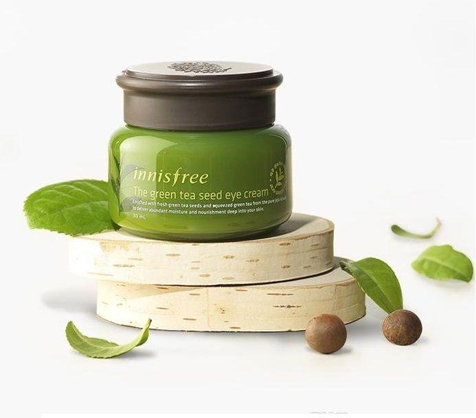Крем для кожи вокруг глаз на основе семян зеленого чая Innisfree  Green Tea Seed Eye Cream