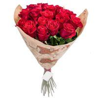 Букет из красных роз ЭКВАДОР (50 см)
