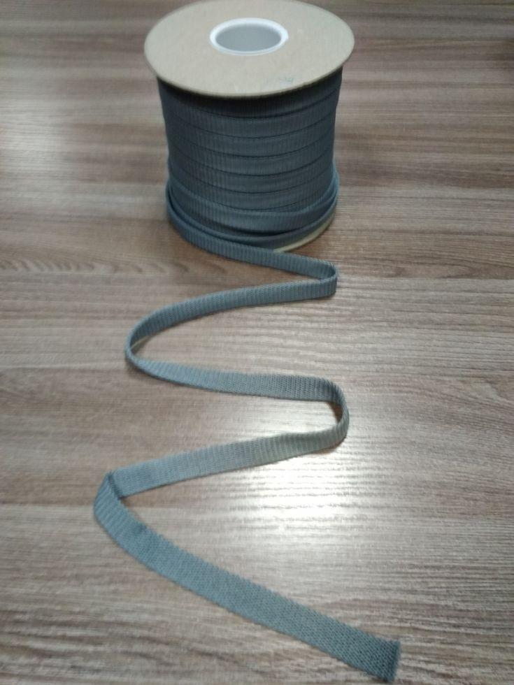 СЕРЫЙ Шнур плоский шир. 12 мм