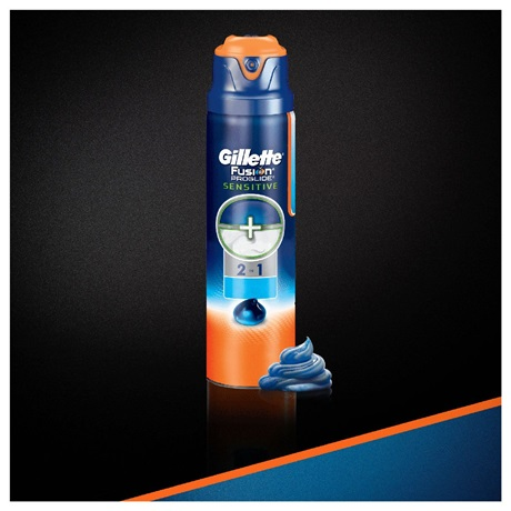 ГЕЛЬ ДЛЯ БРИТЬЯ GILLETTE FUSION PROGLIDE SENSITIVE 2-В-1 OCEAN BREEZE 200 мл