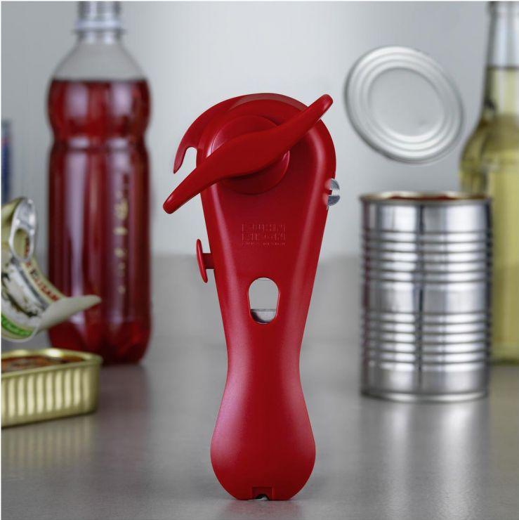 Открыватель консервных банок 5-в-1 красный Kuhn Rikon 22660