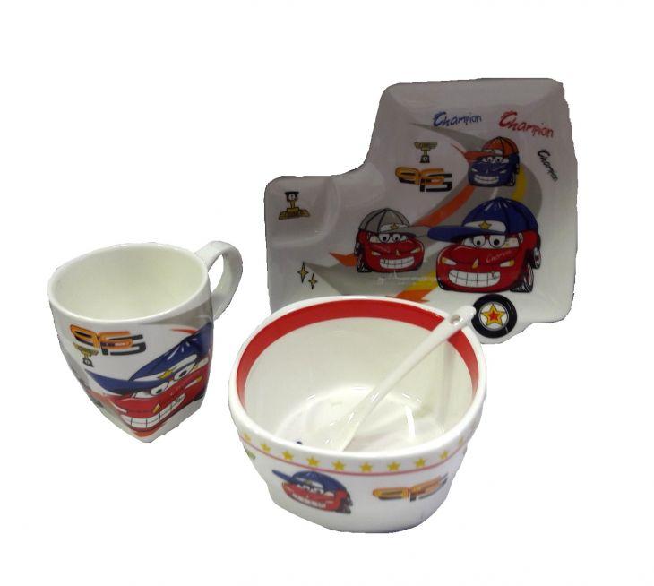 Набор посуды ТАЧКИ 4 предмета