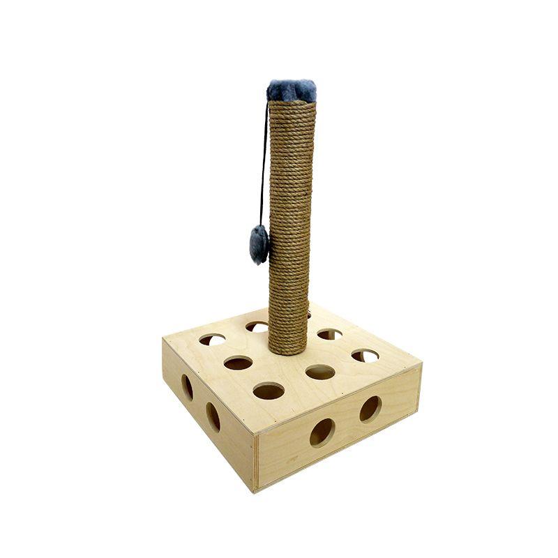 "Игрушка развивающая д/к из дерева ""квадрат со столбиком"" 35*35*55 см  ZOOEXPRESS"