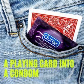 """Карточный трюк """"Игральная карта в презерватив"""" Turn a Playing card into a Condom by Gimmick STUDIOS"""