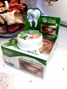 100 шт Набор Зубная паста тайская Лечение и  отбеливание,25гр + 10гр