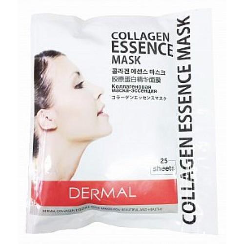 Dermal Маски для лица с коллагеном и гиалуроновой кислотой 25 шт в многоразовой упаковке на молнии