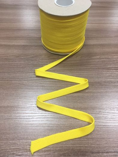 ЖЕЛТЫЙ Шнур плоский шир. 12 мм
