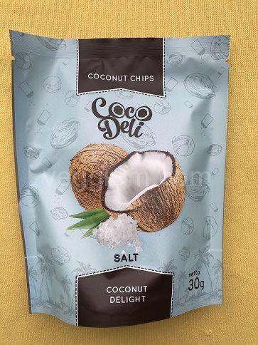 Кокосовые чипсы соленые Coco deli,30 грамм и 100 грамм