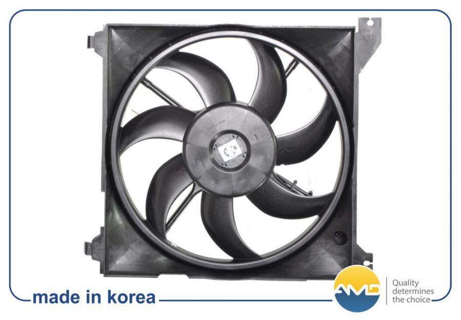 Вентилятор охлаждения в сборе HYUNDAI Santa Fe 2538026000 AMDFCU53 Amd