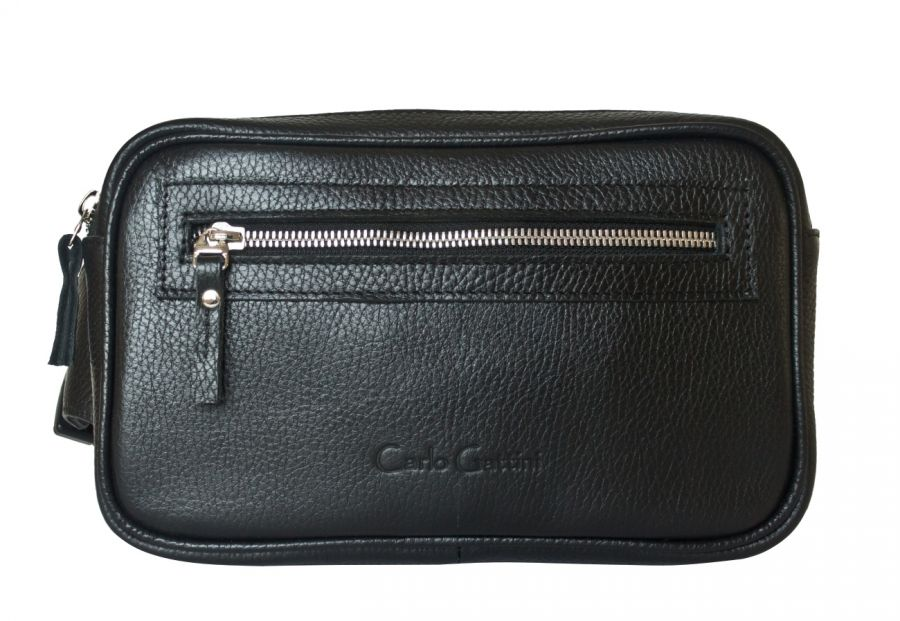 Кожаная поясная сумка Carlo Gattini - Terlano black