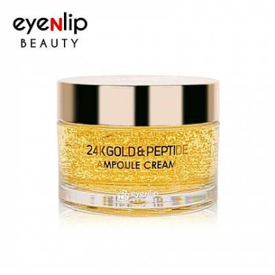 Крем с пептидами и золотом EYENLIP 24K GOLD & PEPTIDE AMPOULE CREAM 50g