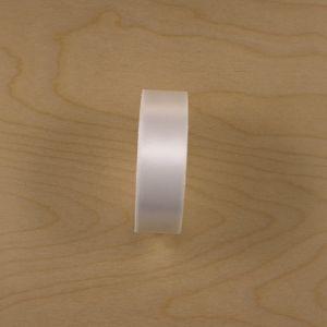 Атласная лента, ширина 23-26 мм, 25 ярдов, цвет белый, АЛ9179-01