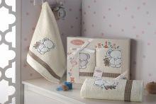Комплект махровых полотенец для детей BAMBINO-SLON 50*70+70*120 Арт.3095-1