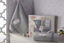 Комплект махровых полотенец для детей BAMBINO-SLON 50*70+70*120 Арт.3095-2