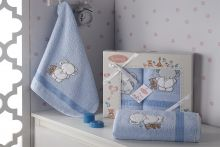Комплект махровых полотенец для детей BAMBINO-SLON 50*70+70*120 Арт.3095-3