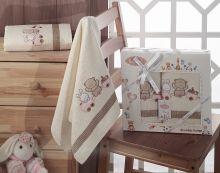 Комплект махровых полотенец для детей BAMBINO-TRAIN 50*70 + 70*120 Арт.2134-4