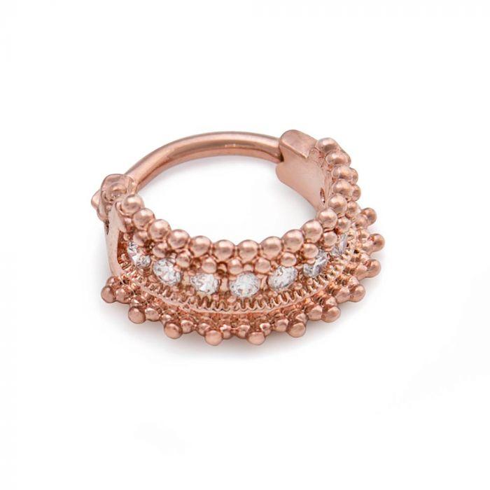 Кликер розовое золото PVD