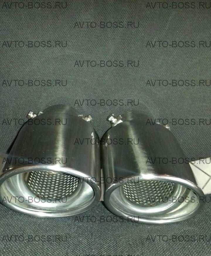 Насадка на глушитель  Материал:Нержавеющая сталь Диаметр трубы (мм):64 Длина (мм):178 Размер насадки:102x80