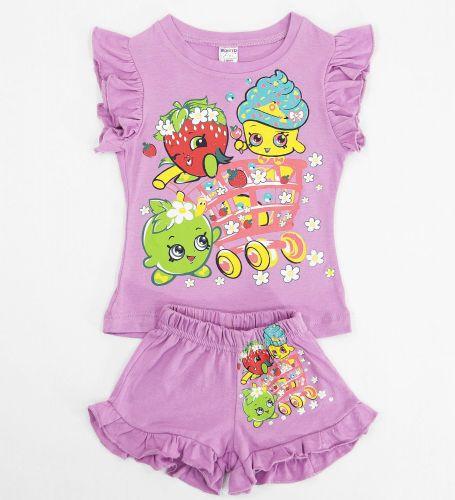 Футболка и шоры с ягодками для девочек 1-4 лет