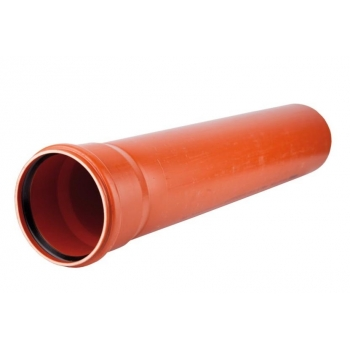 Труба гладкая d110х3,2х1000 НПВХ наружная канализация Polyplastic