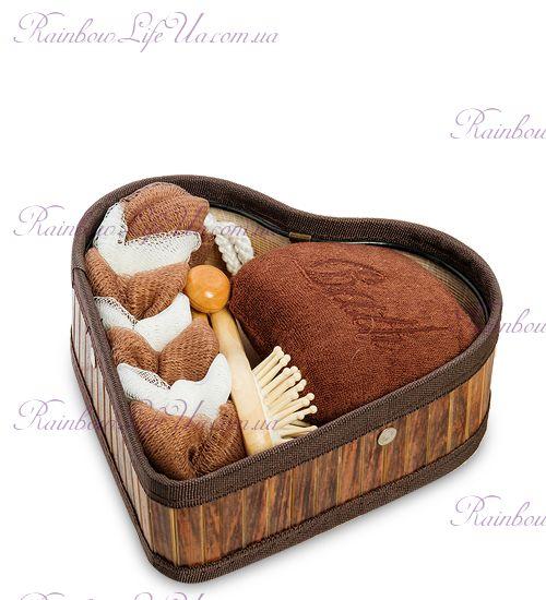 "Набор для бани ""Шоколадное сердце"""