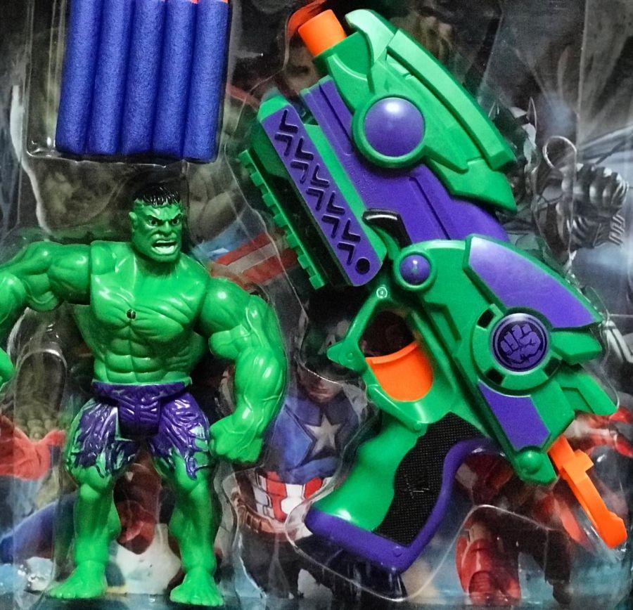 Супергерой Халк и оружие, световые эффекты