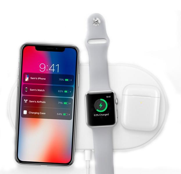Беспроводное зарядное устройство для iPhone и Apple Watch AirPower Wireless Charger 3 в 1