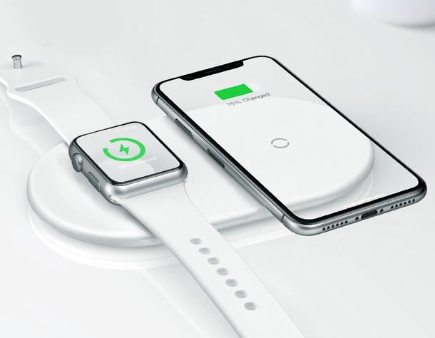 Беспроводная зарядка для телефона и часов Baseus Smart Wireless Charger 2 В 1 белая