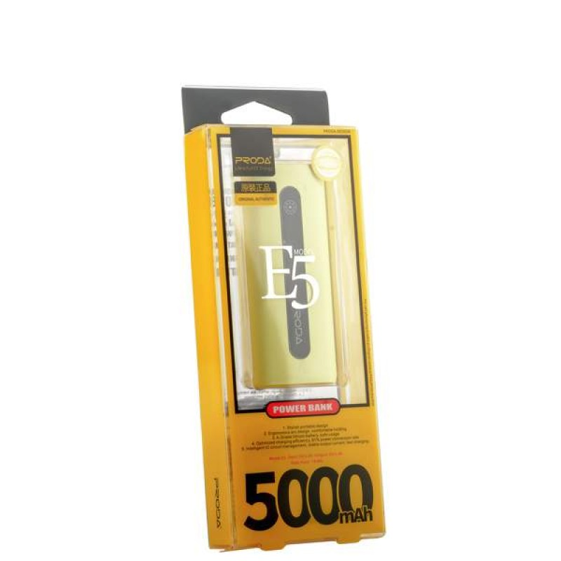 Портативное зарядное устройство  REMAX Proda E5 Series PPL-15 5000 mAh