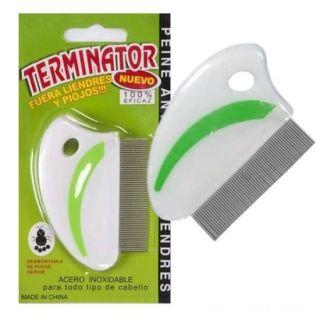 Гребень для вычесывания вшей и гнид Terminator, Зелёный