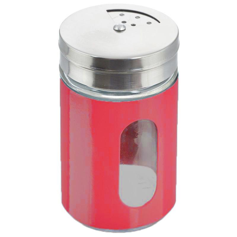 Баночка Для Специй С Тремя Видами Отверстий, Цвет Красный