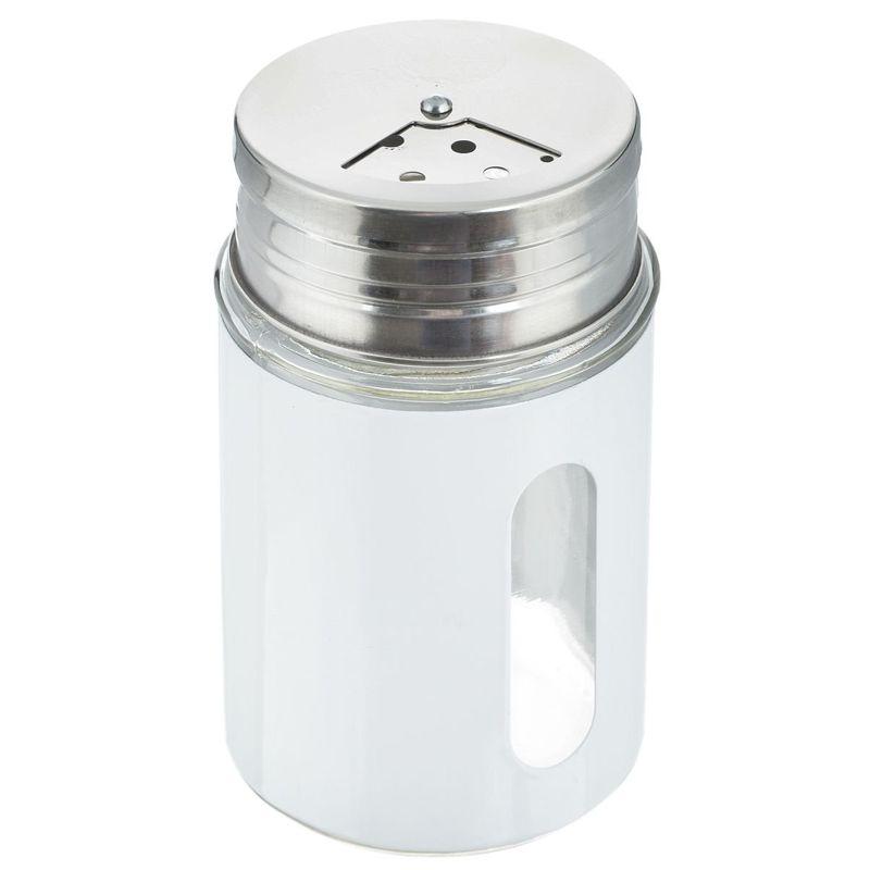 Баночка для специй с тремя видами отверстий, цвет белый