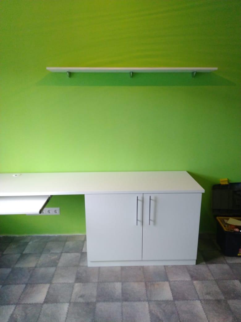 Комплект Шкаф+Стол письменный+Полки