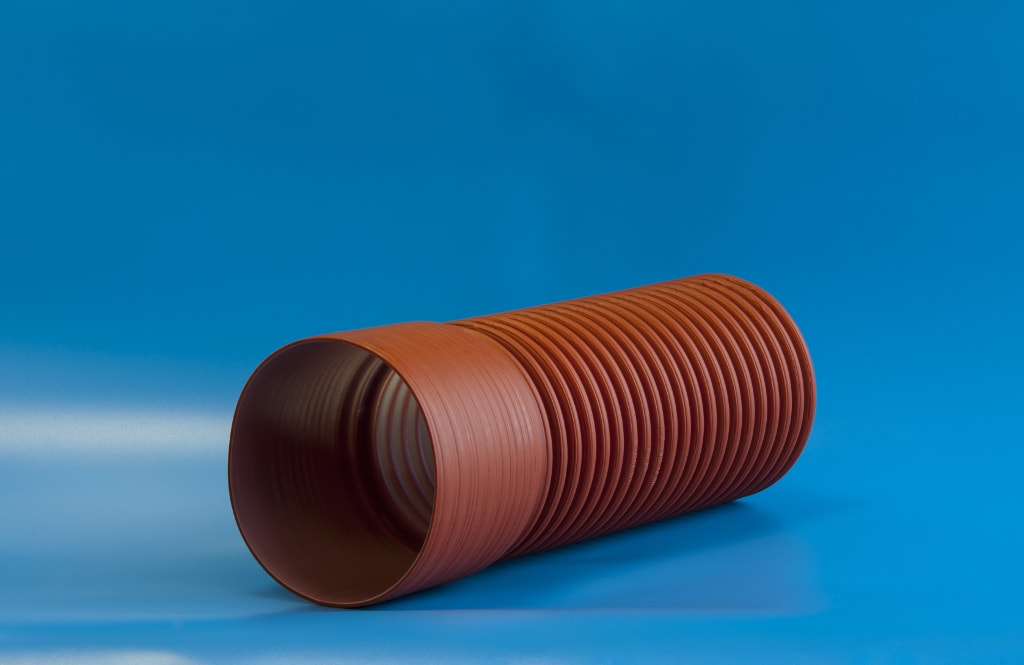 Труба двухслойная ф117/100 SN8(6м)с раструбом