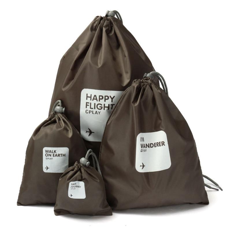 Водонепроницаемые мешочки для одежды Happy Flight Cplay, 4 шт, цвет коричневый