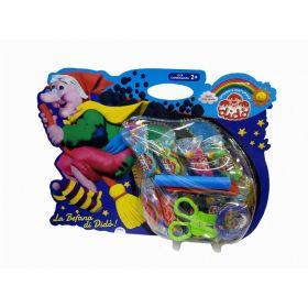 Детский набор для лепки DIDO La Befana паста 9шт*50гр, стеки, ножницы, трафарет (арт. 397600)