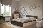 Кровать Ронда 1,4*2,0 с 4-мя ящиками (венге/дуб)
