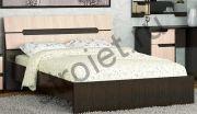 Кровать Гавана 1,6*2,0 венге/дуб молочный