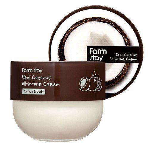 Многофункциональный крем с кокосом Real Coconut All-in-one Cream FarmStay