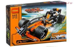 Конструктор Decool Гонка BLACK CHAMPION с инерционным механизмом 3413 (Аналог LEGO 42026) 137 дет