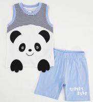 Комплект для мальчика 6-18 мес Bonito с мордочкой панды