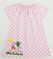 Платье для девочек 6-18 мес.Bonito розовое в горошек