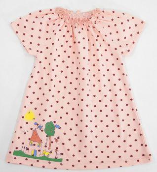 Платье для девочек 6-18 мес.Bonito персиковое в горошек