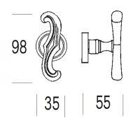 Ручка-кноб Salice Paolo Masquat 4258/4255. схема