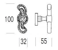 Ручка-кноб Salice Paolo Samarra 4273/4270. схема
