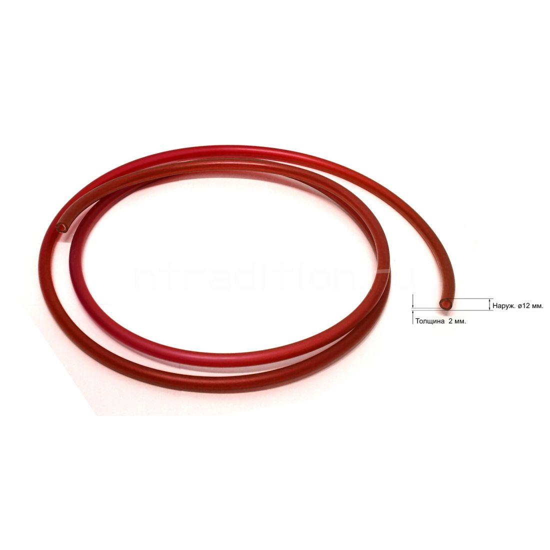 Трубка под быстросъем 12 мм, красная, 1 метр