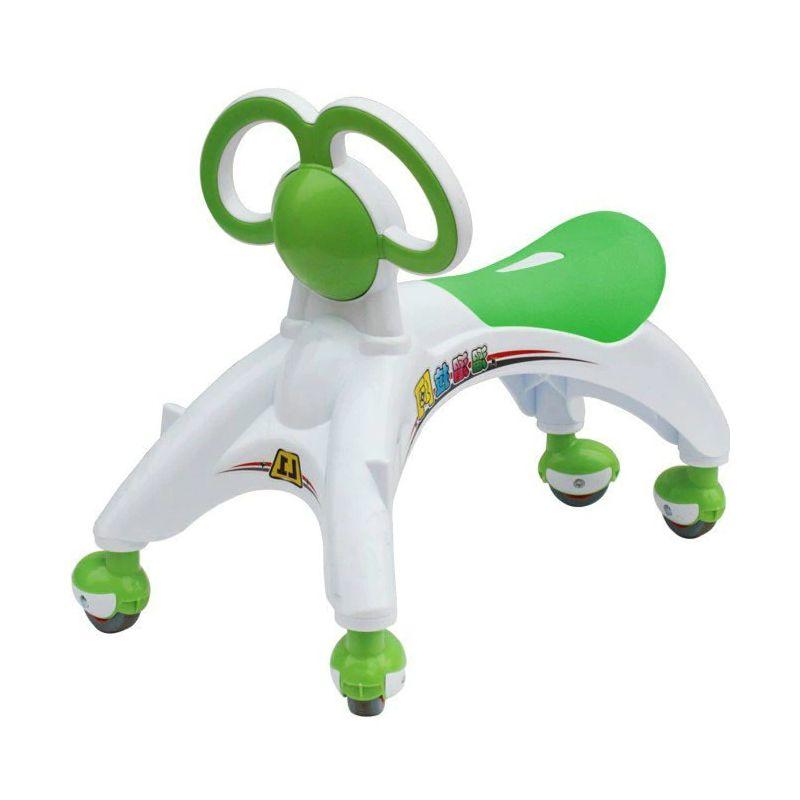 Беговел-каталка для малышей, цвет зеленый