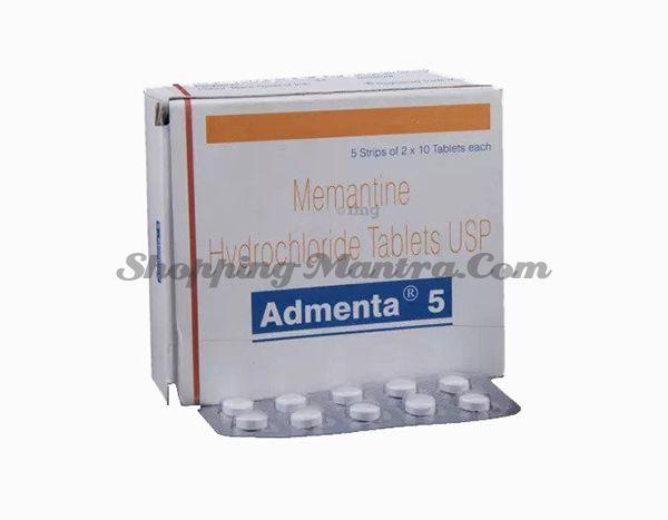 Адмента таблетки (Мемантин 5мг) Сан Фарма | Sun Pharma Admenta Memantine 5mg