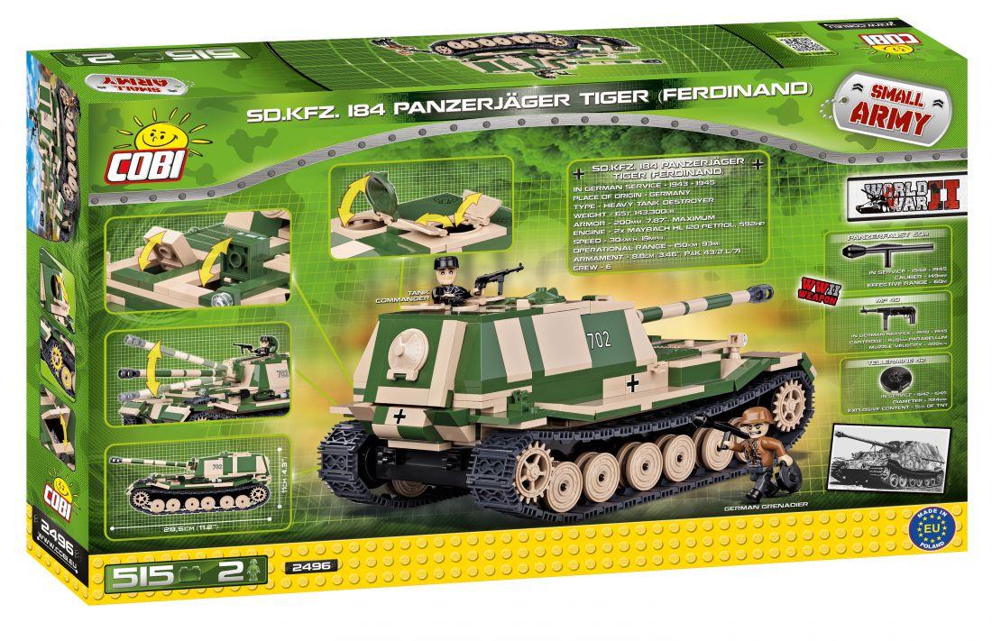 Конструктор COBI Armia 515 эл. SDKFZ 184 Panzerjager II 2496